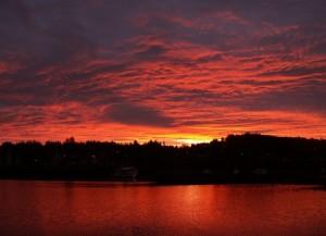 pacific northwest sunrise