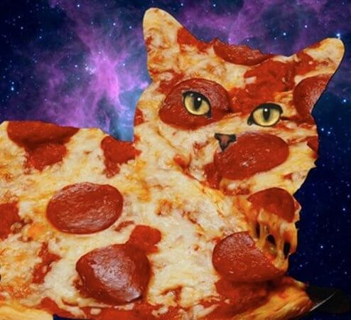 Why do people think it's a good idea to make faces with or put faces on pizza? And galaxies?