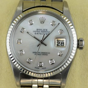 Rolex Datejust 36 mm Perlmutt Zifferblatt Diamaten