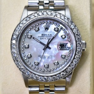 rolex Mens datejust diamanten