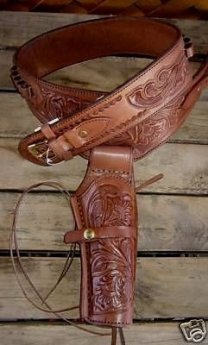 leather gun holster brown 2
