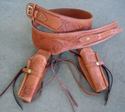 leather gun holster tan
