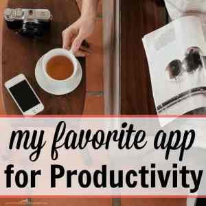 My Favorite App for Productivity