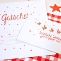 Adventskalender Türchen Nr. 22: Last Minute Geschenk - Gutscheine mit individuellen Namensfeldern