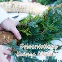 Fotoanleitung:  Kränze binden für die Weihnachtszeit Teil 1