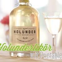 Holunderlikör - Rezept mit Etiketten zum Download