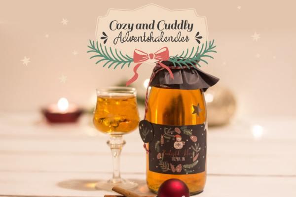 Adventsskalender Türchen Nr. 4 – Bratapfel-Likör mit Etiketten zum Ausdrucken