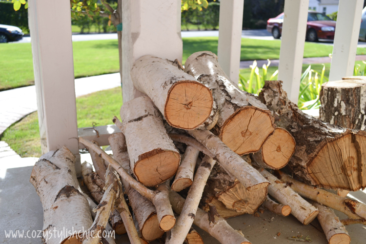 tree stump candle holder