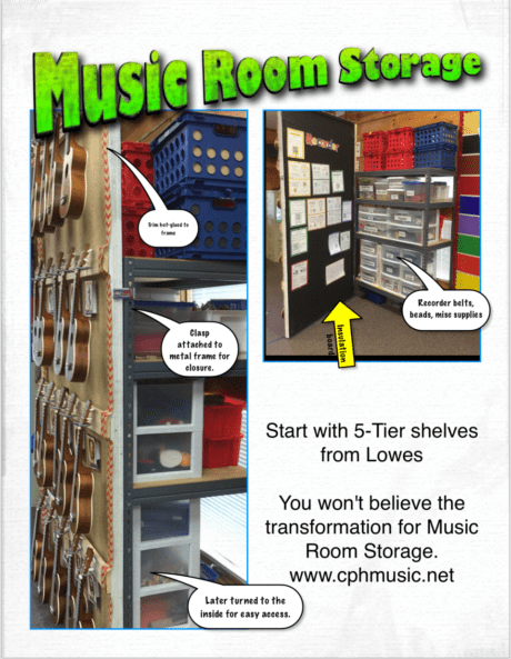 Music Room Storage Becomes Multi-purpose Stations