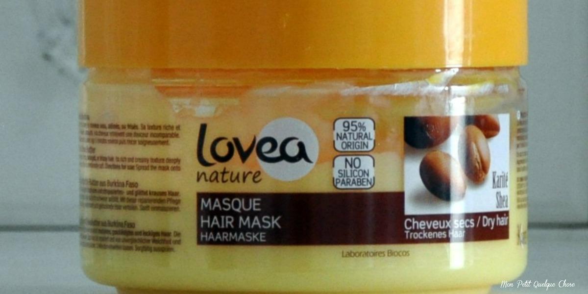 Le masque Lovea nature au Karité pour cheveux secs : une composition, une revue.