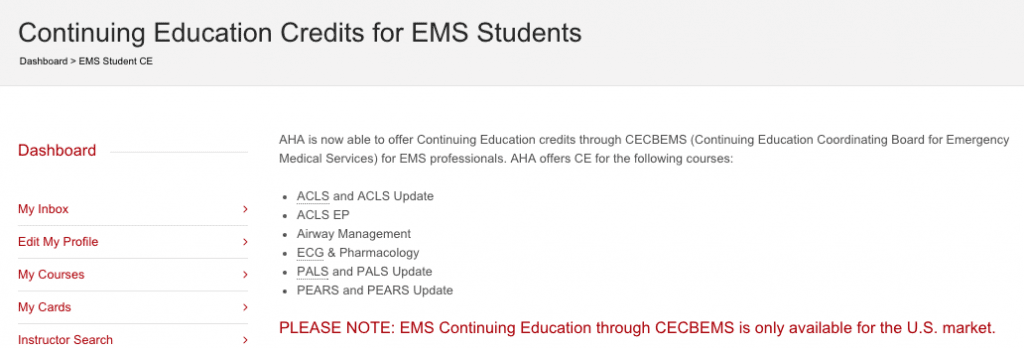 Ce Credits For Medical Professionals Who Take Bls Or Acls