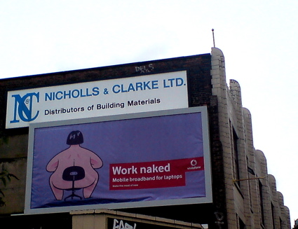 Work Naked Vodafone poster