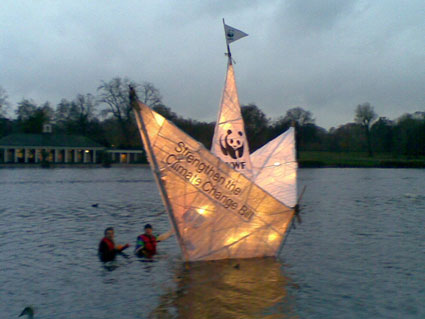 WWF boat floats