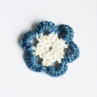 Two-Tone Crochet Flower