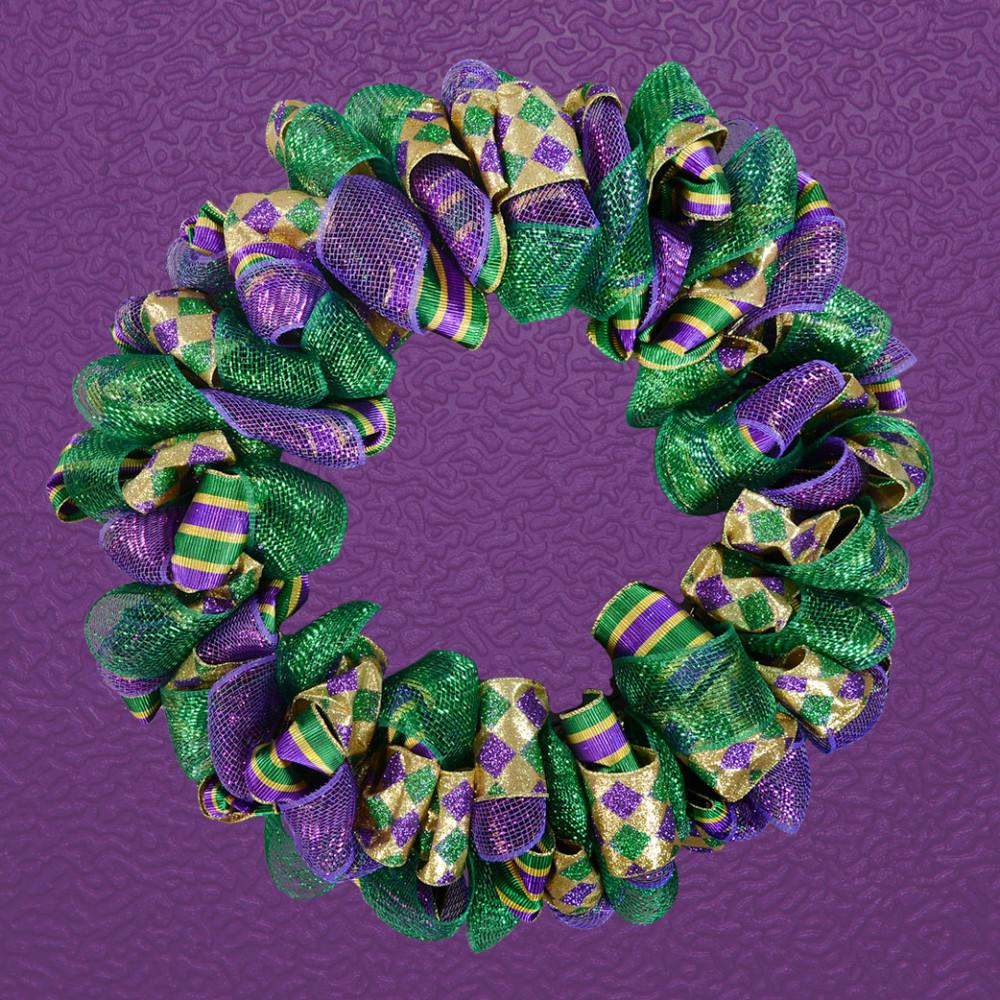 Fullsize Of Mardi Gras Wreath