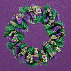 Small Of Mardi Gras Wreath
