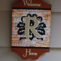 Monogram Door Plaque & Mod Podge Outdoor Update
