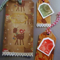 How-To: Recycle Cards and Wrapping Paper into Gift Tags!