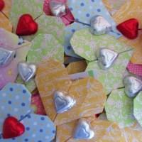 Valentine's Day Origami Hearts
