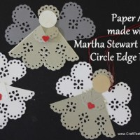 Paper Angel Ornaments using the Martha Stewart Crafts Circle Edge Punch