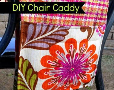 Make a simple caddy to take on the go. Great for holding a book, iPad or journal.