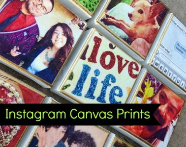 Here's an easy way to melt your IG pics into a canvas! Looks very professional!
