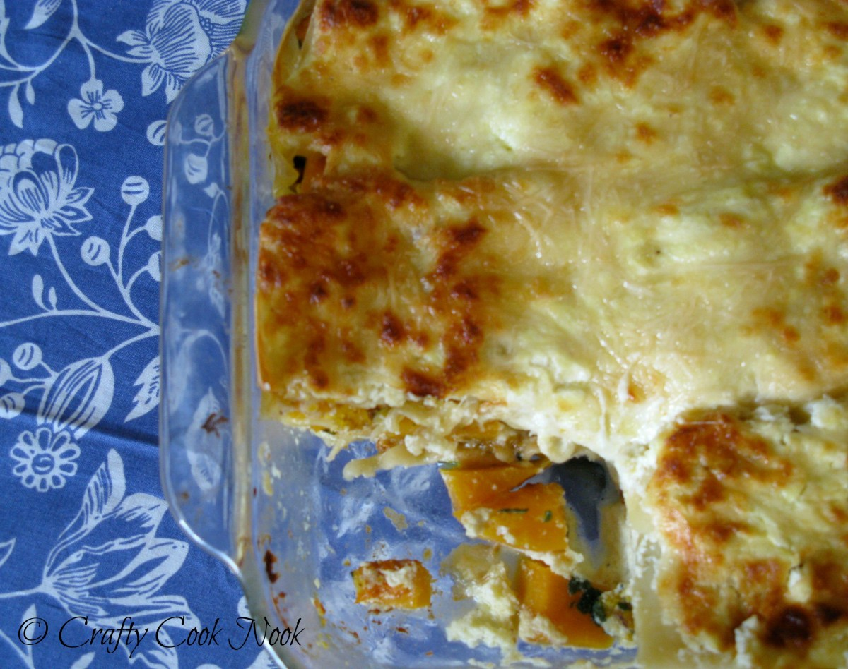 Winter-warming Butternut Squash and Sage Lasagna