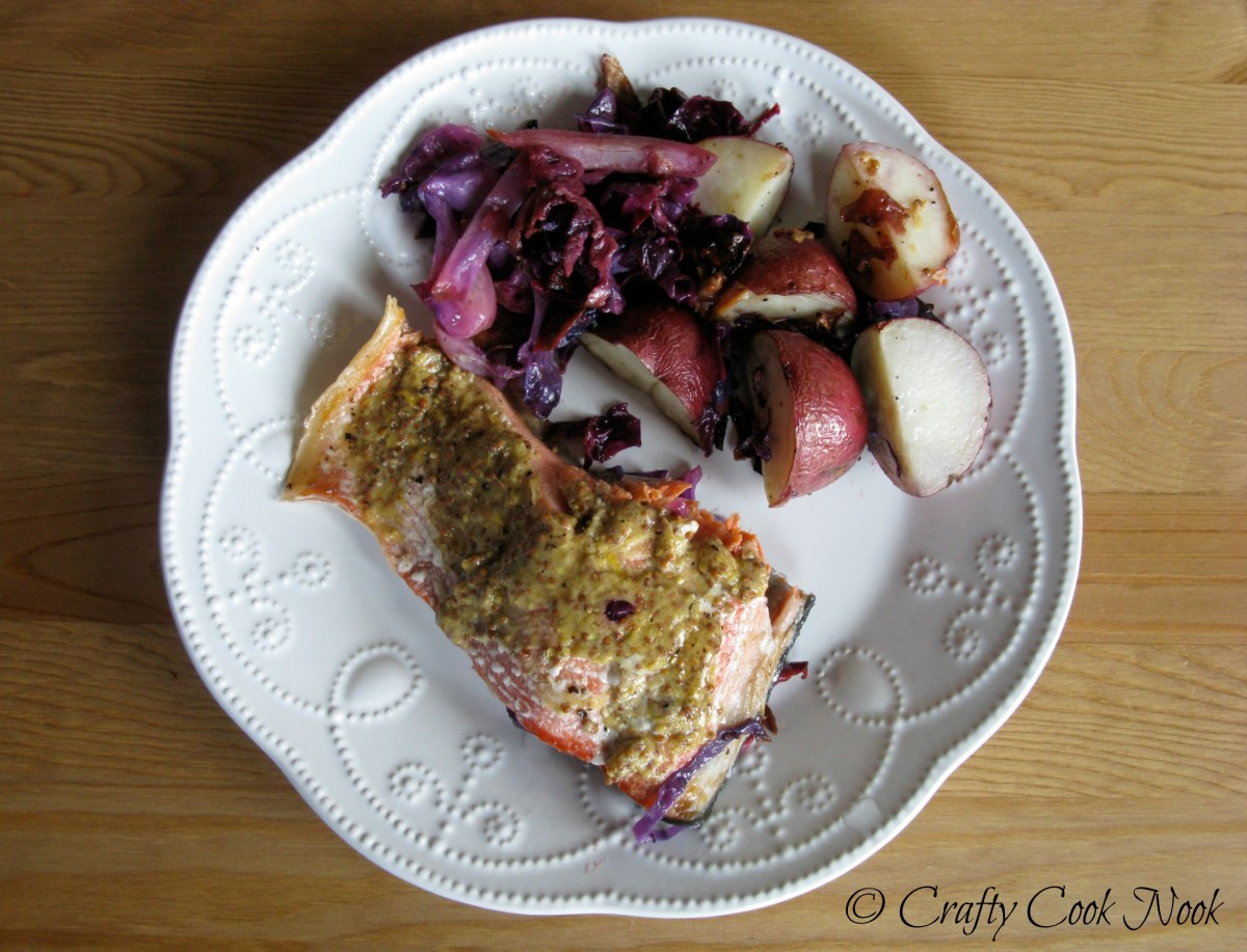 "Roasted Salmon, Red Cabbage, and New Potatoes With a Side of I Liked ""Her,"" But I Wouldn't Want To Be Her"