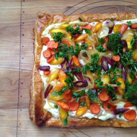 Easter Weekend Carrot Tart with Ricotta and Herbs