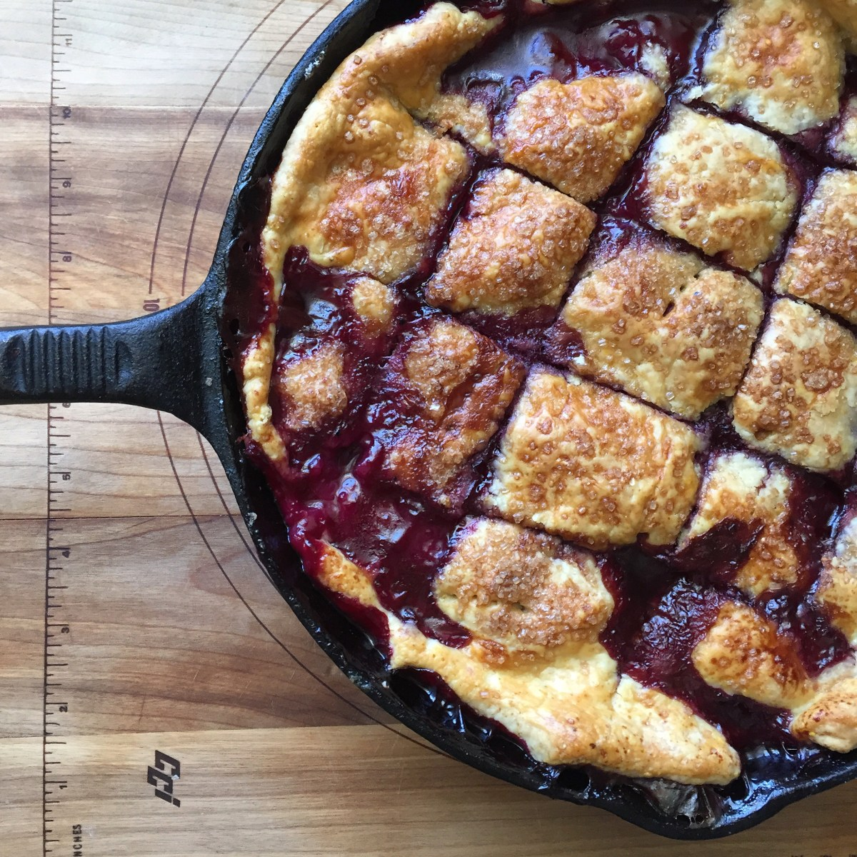 Nothing Dowdy About Blueberry Nectarine Pandowdy