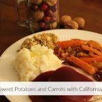 Glazed Carrots and Sweet Potatoes With California Walnuts @CaWalnuts #justaddwalnuts #ad