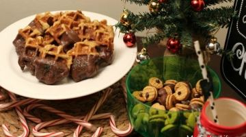 12 Days of Cookies: Chocolate Chip Waffle Dunkers & Acorn Treats #HousefulofCookies