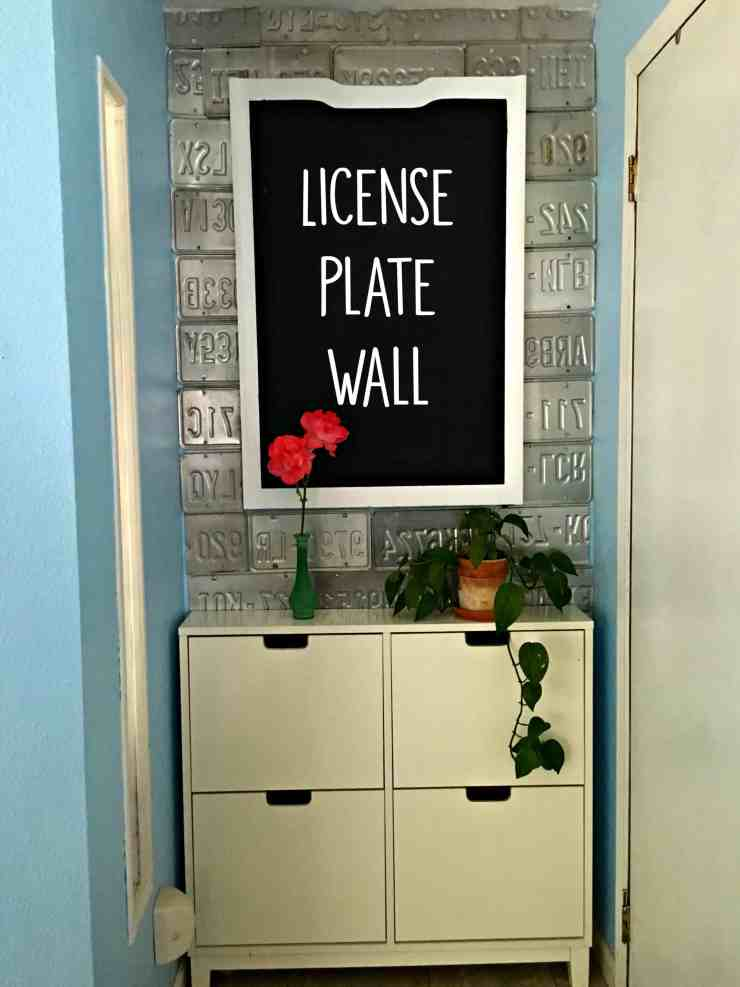 License Plate Wall DIY