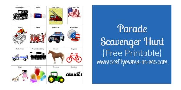 Parade Scavenger Hunt for Kids {Free Printable}