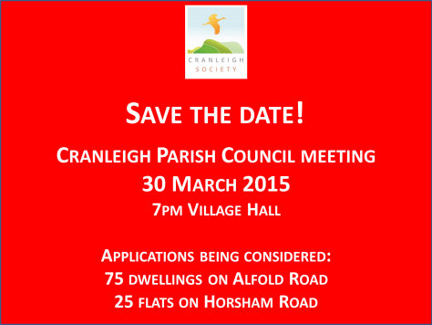 Cranleigh parish council planning committee date 30 March