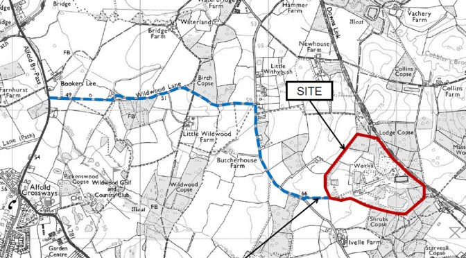 Cranleigh Brick and Tiles site location map