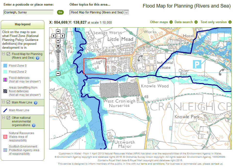 Flooding Archives Cranleigh Society - Us flood risk map