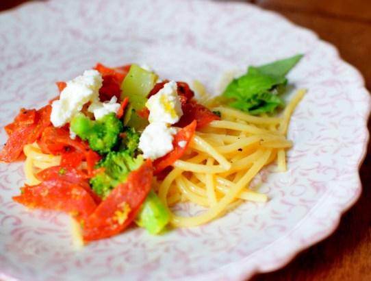 Broccoli Pepperoni Pasta-003