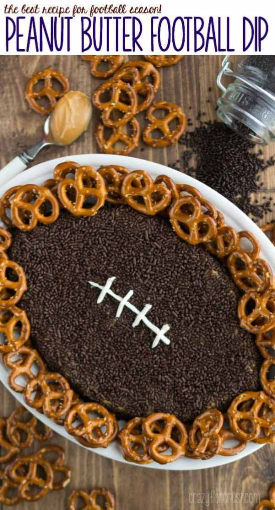 Peanut Butter Football Dip - this easy recipe is perfect for any football party!