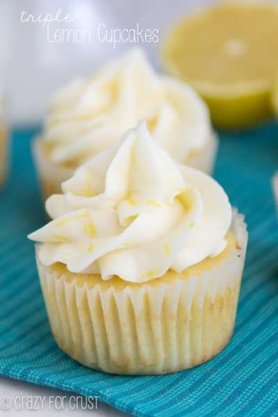 Perfect Triple Lemon Cupcakes - Crazy for Crust