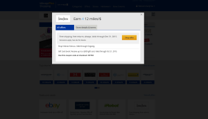 United MileagePlus Shopping Bonus