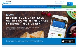 Chase Freedom Cash Rewards and Pay on the Spot