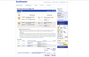 Southwest Airlines Award Redemption