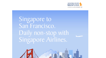 Singapore Airlines Non-Stop from San Francisco to Singapore