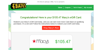 Picked Macy's for 12% extra Cash Back