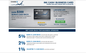 Chase Ink Cash Business Card