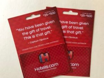 hotel.com gift cards