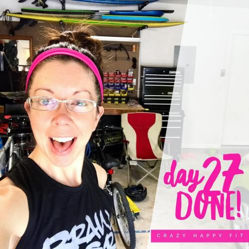 Day 27 of working out in my garage!! Today washellip