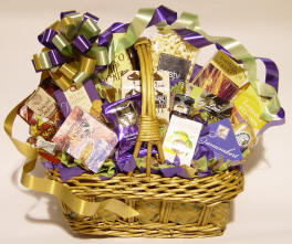 Purple Gift Basket by Shirley George Frazier