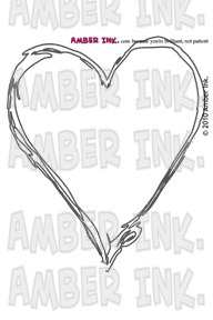 Amber Ink Carved With Care Stamp